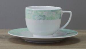 Friesland Venice 5240 Jade Garden Green Kaffeetasse mit Unterteller Untertasse