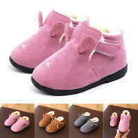 Toddler Kids Baby Cute Girls Boys Winter Warm Shoes Martin Snow Boots Sneakers