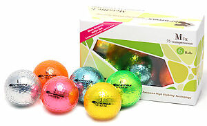 Chromax Metallic Coloured M1x Golf Balls 6 Pack - Can be Personalised