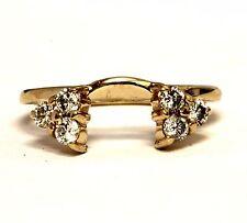14k yellow gold .30ct diamond wrap jacket ring 2.2g estate antique vintage