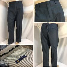 Jack Nicklaus Golf Pants 38x30 Blue Gray Check Poly Flat Front Mint YGI 9899