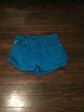 Bongo Vintage Turquoise  Button Fly Junior Shorts Size 11