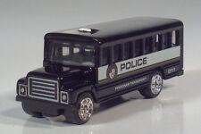 "Golden Wheels International School Bus 3"" Model Police Prisoner Transport Black"