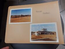 KARIBA AIRPORT SUPER PAIR  EARLY COLOUR PHOTOGRAPHS DC3  ZIMBABWE