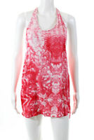Mikoh Womens Sleeveless Scoop Neck Tie Dye Tunic Blouse Top Red White Size 1