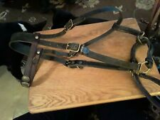 Used leather halter Bridle combination