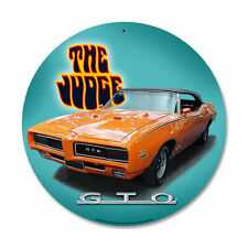 Original GM Pontiac GTO The Judge arancione vintage retrò SIGN IN LAMIERA SCUDO SCUDO