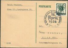 Germany 1938 Third Reich Occupation Of Austria Propaganda Postcard