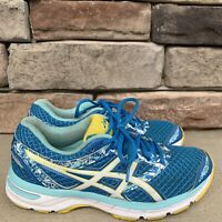 ASICS Gel Excite 4 Running Shoes Women's Blue Yellow - US 8