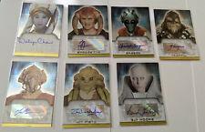 Star Wars 2006 Topps Evolution Update Lot Autographs