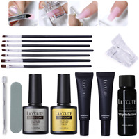 20ml Quick Poly Building Gel Nails Kits Slip Solution Brush File Extension Set