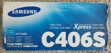 Genuine Samsung CLT-C406S Cyan Toner