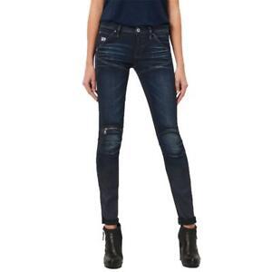 G-Star 5620 Zip Mid Waist Skinny Damen Jeans Hose Jeanshose Röhrenjeans