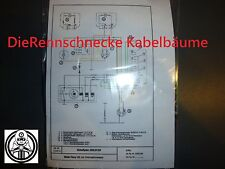 Kreidler Flory 23 Kabelbaum Kabelsatz Nachbau incl. farbigem Schaltplan