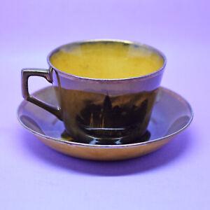 RARE Antique Royal Vistas Ware Ridgways Tea Cup & Saucer,England'From Paintings'