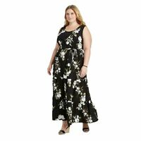 NWT Ava & Viv Women's Plus Size Floral Sleeveless Tiered Maxi Dress Size X