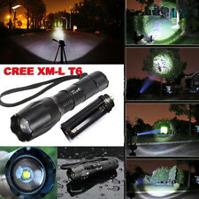 XM-L T6 2600Lm LED Zoomable Flashlight Torch light Lamp Linterna Antorcha 18650
