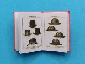 1:12 Scale Book, Head wear, Ancient & Modern, 1885  Crafted by Ken Blythe