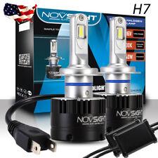 NOVSIGHT Premium H7 14400LM LED Auto Headlight Bulbs Kit Hi/Low Beam 5500K White