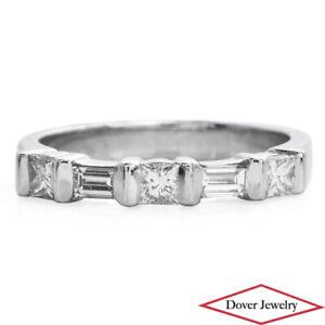 Estate 0.50ct Diamond Platinum Elegant Band Ring 17.3 Grams N