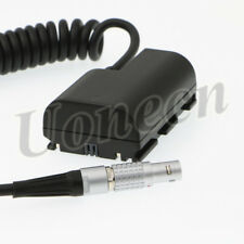 LP E6 Dummy Battery to 2 Pin Male Spring Power Cable for Canon 5D Mark II