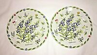 "Kent Pottery Rosemary Salad Plates 7 1/4""  Set of 2 Herb Garden, Rare"