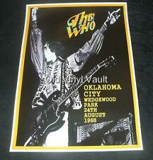 The Who concert poster Oklahoma City Wedgewood Park 1968 A3 size repro