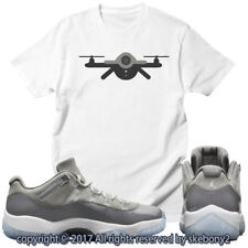 NEW CUSTOM T SHIRT Cool Grey Air Jordan 11 Lows Drop This Month JD 11-4-9