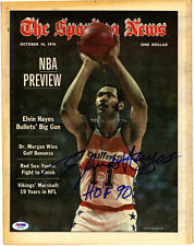 Elvin Hayes SIGNED 1978 Bullets The Sporting News NO LABEL PSA/DNA AUTOGRAPHED