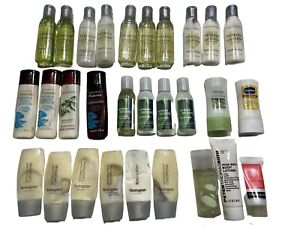 Travel size toiletries lot 29 pieces Crabtree Evelyn Neutrogena Bath Body Works