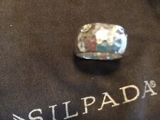 SILPADA Rare RETIRED Hammered Sterling Silver 925 Cuff BAND Ring Size 6 R1343