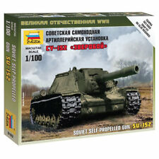 ZVEZDA 6182 Soviet Self Propelled Gun SU-152 1:100 Military Model Kit