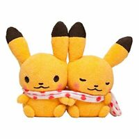 Pokemon Center Original Pikachu Pair Plush Toy Pokémon little tales [muffler]