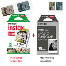 Fujifilm Instax Monochrome Black/white Plain Film 20 Photos - Mini 8 7s 50 90