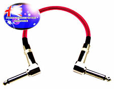 "From OZ Quality 1PC 12"" Guitar Patch Lead Wire Cable Right Angle Ends Pink +F.P!"