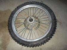 1996 Kawasaki KX250 Front Wheel Rim 80/100-21 Brake Rotor / Tire BAD