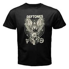 DEFTONES WHITE OWL & SKULL LOGO GOTHIC HEAVY METAL BLACK T-Shirt S-M-L-XL-2XL