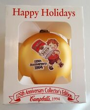 Campbells Soup 1994 CAMPBELL KIDS 125th Anniversary Christmas Ball Ornament