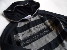 REPLAY & SONS Cooles grau schwarzes Strickhoodie Pullover Gr.24mesi 92