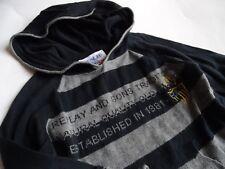 REPLAY & SONS Cool Grigio Nero strickhoodie Pullover Tg. 24 mindestens 92