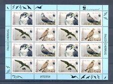 KYRGYZSTAN SHEET  2008  WWF BIRDS  MNH