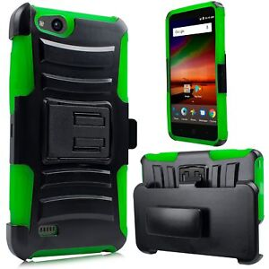 For ZTE Tempo X N9137 Case Heavy Shock Protection Built in Screen Belt Clip case