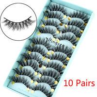 10 Pairs 3D Faxu Mink False Eyelashes Wispy Crisscross Fluffy Extension Lashes