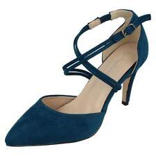 Zapatos de tacón de mujer de color principal azul ante talla 38