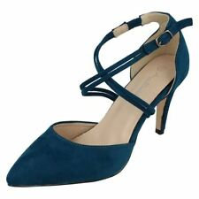 Scarpe da donna cinturini , cinturini alla caviglia blu casual