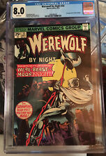WEREWOLF BY NIGHT 33 CGC 8.0 VF Marvel  2nd App Moon Knight White Pages HOT HOT!