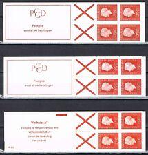 Nederland Postzegelboekjes 8a, 8aF, 9a, 9aF, 9hF mooie set (5) Cat Waarde € 60