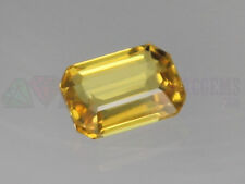 Ceylon Yellow Sapphire VS 7x5mm Octagon 1.06ct Loose Natural Gemstone Sri Lanka