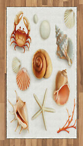 Ocean Crabs Area Rug Decorative Flat Woven Accent Rug Home Decor in 2 Sizes