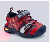 Marvel Spider-Man Toddler Boys Light-Up Hiking Sandals - Red - Size 8 - NEW